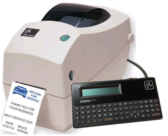 ZEBRA TLP-2824 Plus Oil Change Sticker Printer
